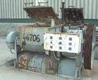 USED: Werner and Pfleiderer double arm mixer, type uk14 1/2-v1-e3. 395 liter (104 gal) total. 315 liter (83 gal) working cap...
