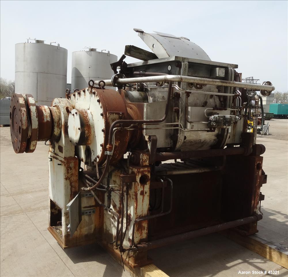 Used- Stainless Steel Werner & Pfleiderer Heavy Duty Double Arm Mixer, Model DUK200KS