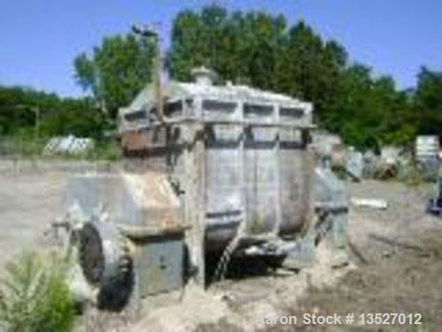 Used-W & P 500 gallon, 316 stainless steel, double arm cored sigma blade mixer, tangential blades. Jacketed bowl and end pla...