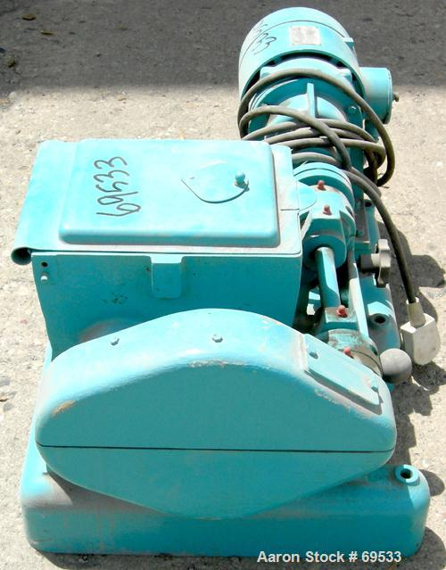 Used: Carbon Steel Werner & Pfleiderer lab size double arm mixer, 0.53 gallon (2