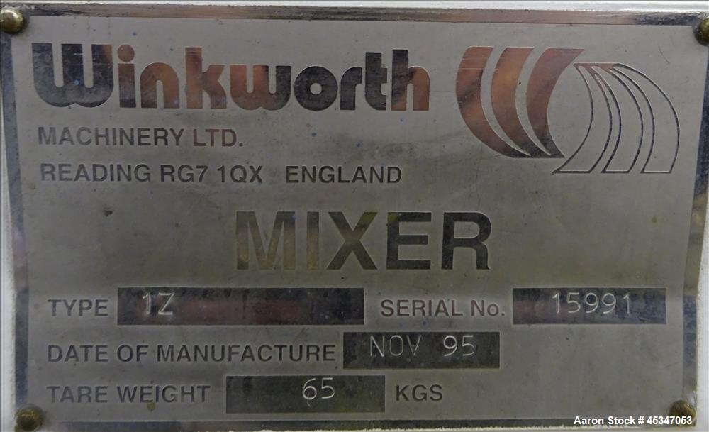Used-Winkworth Sigma Mixer