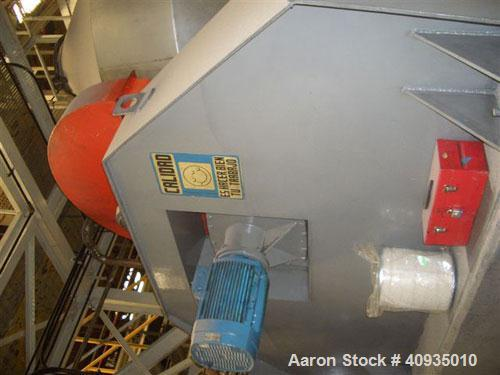 Used-2000 Kilo Double Cone Blender, Stainless Steel. Approximately 150 cubic feet.