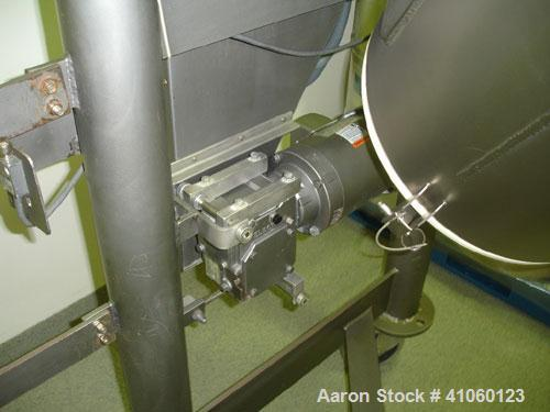 Used- Patterson Kelley Twin Shell Crossflow Blender, 5 Cubic Feet, stainless steel construction, rated 106#/ cubic foot max ...