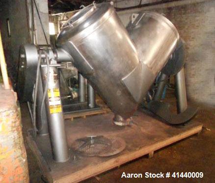 Used- 20 cubic foot V-blender, Stainless Twin Shell Blender.
