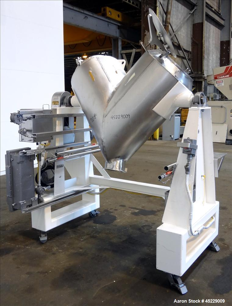 Used- Stainless Steel ESMV 10 Cubic Foot V-Blender