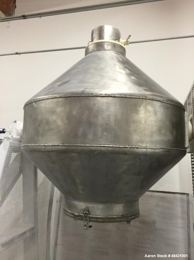 Used- Twin Cone Mixer, Stainless Steel.