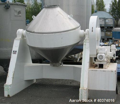 Used-Apex Engineering Double Cone Blender, type 58FFS