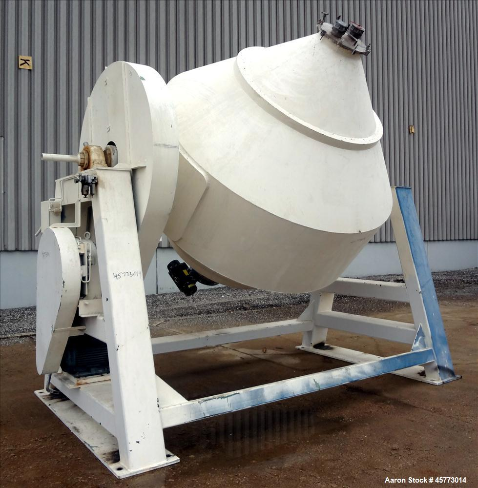 Used- Double Cone Blender, Stainless Steel.