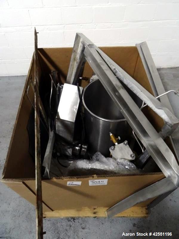 Used- Stianless Steel Gemco 75 cu ft slant cone blender, model HI.SP.AGIT.GEMCO