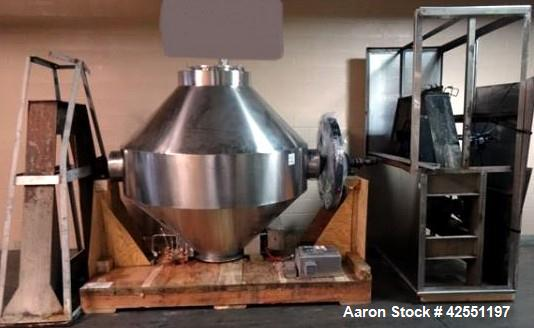 Used- Stainless Steel Gemco 75 cu ft double cone blender