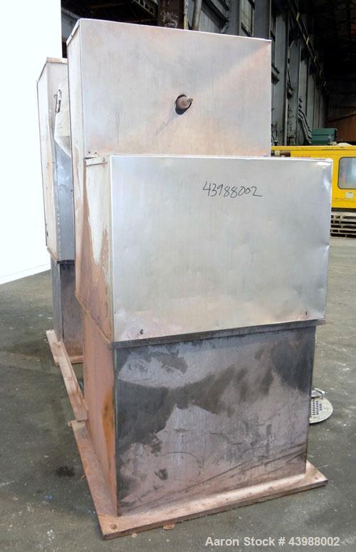 Used- Stainless Steel Gemco Double Cone Blender, 10 Cubic Feet Working Capacity