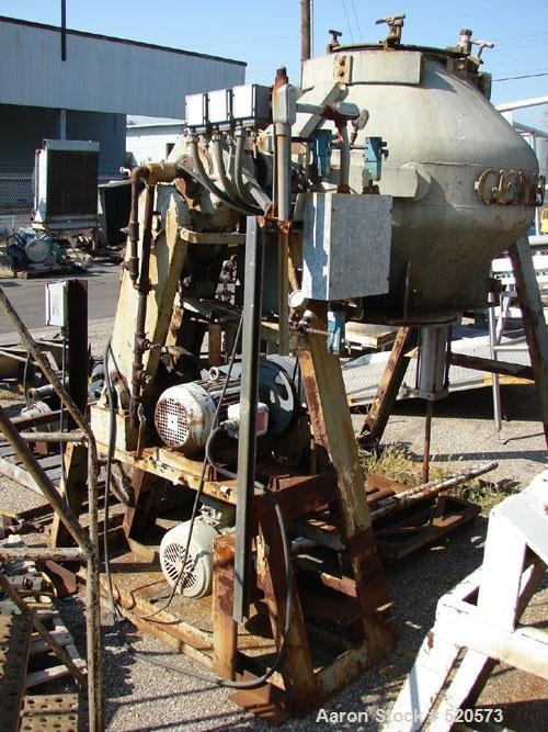 Used: Stainless Steel 15 Cubic Foot Gemco double cone mixer