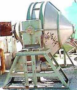 Used- Stainless Steel Gemco Double Cone Blender, Model SB100-BG, 100 Cubic foot