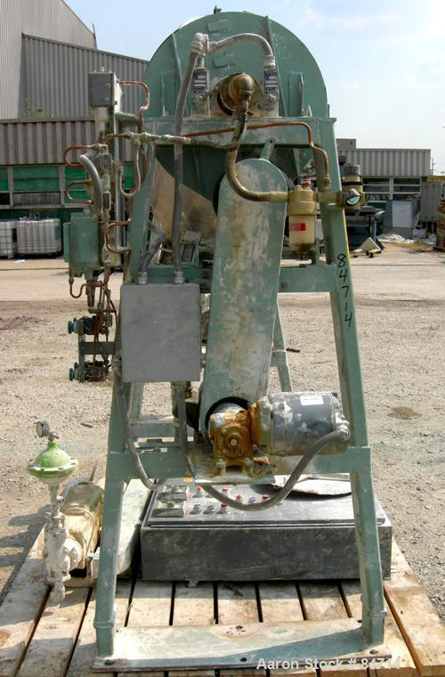 Used- Stainless Steel Gemco Twin Shell Liquid Solids Blender, 3 Cubic Feet Capacity