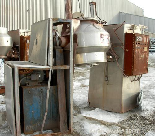 Used- Stainless Steel Gemco Double Cone Liquid Solids Blender, 10 Cubic Foot Wor