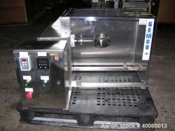 Used- Stainless Steel Gemco Slant Cone Blender, (.017) Cubic Feet (.5 liter), Mo