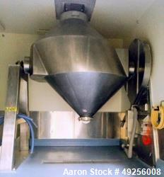 Used- Gemco slant cone mixer, approximately 250 cubic feet working capacity
