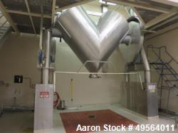 Used- Patterson Kelly 125 Cubic Foot Twin Shell Dry V-Blender. Stainless steel construction, with pin bar. Max material dens...