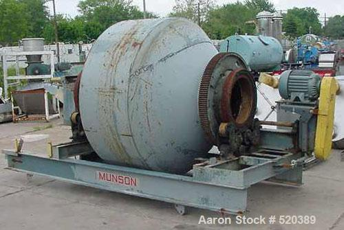 USED: Munson Rotary Blender, model 7TS-60, 60 cubic feet. On steel stand with drive. 7.5 hp Allis Chalmers motor, 028/220/44...
