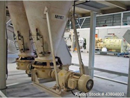 Used-Nauta Conical Mixer including platform 9' x 13.7' (2750 x 4200 m).  Mixer dimenstions 5.2' s 7.2' x 6.0' (1600 x 2200 x...