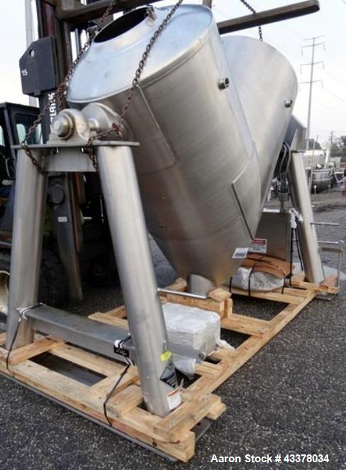 Used- Stainless Steel One (1) used 75 cubic foot Patterson Kelley twin shell blender