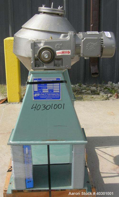 "Used- Stainless Steel Patterson Industries Double Cone Blender, model 18"" Thorob"