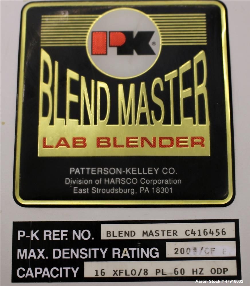 Used- Patterson-Kelley 16/8 Quart Blend Master Lab Blender