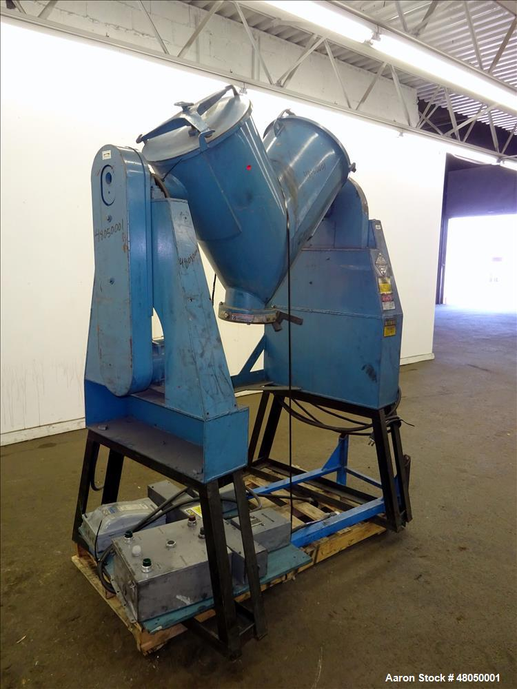 Used- Patterson-Kelley Twin Shell Blender, 3 Cubic Feet Capacity