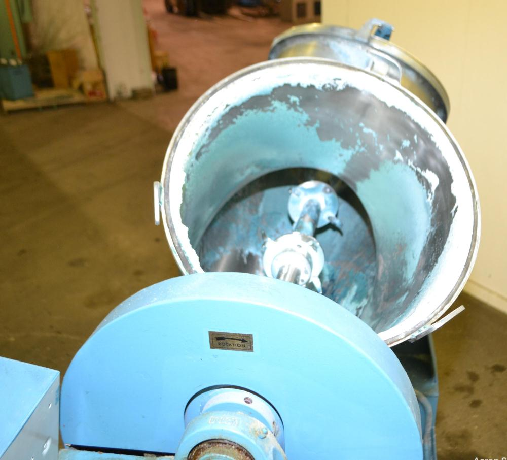 Used- Stainless Steel Patterson-Kelley Twin Shell Dry Blender, 3 Cubic Feet Capacity