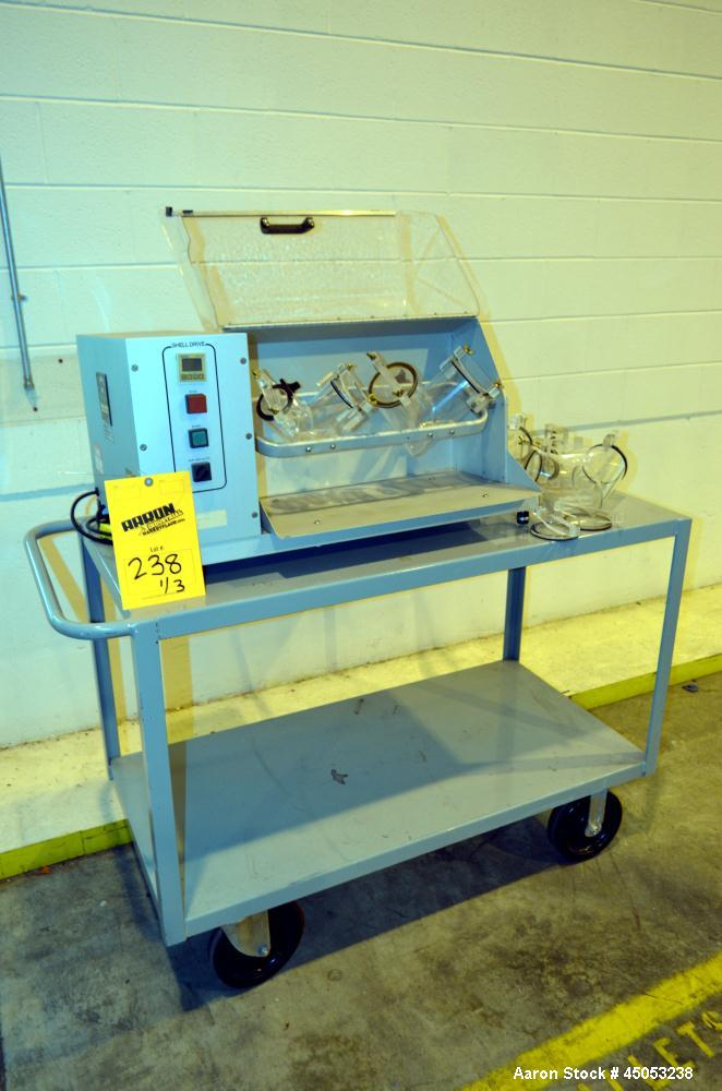 Used- Patterson-Kelley Blend Master Lab Blender. Maximum density rating 200 pound a cubic foot. Unit consists of (1) Yoke sh...