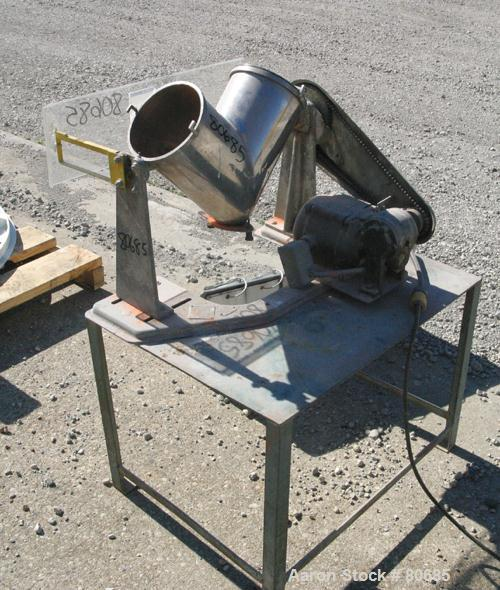 Used- Stainless Steel Patterson-Kelley Twin Shell Dry Blender, (0.26) Cubic Feet (8 quart) Capacity