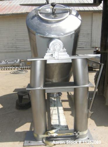 "Used- Patterson Kelley 30 Cubic Foot Twin Shell ""V-Type"" Mixer. Mixer is constructed of all stainless steel, including frame..."