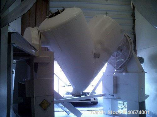 "Used- Patterson Kelley 60 cubic foot ""V"" blender.  This blender was originally designed with capabilities for a vacuum dryer..."