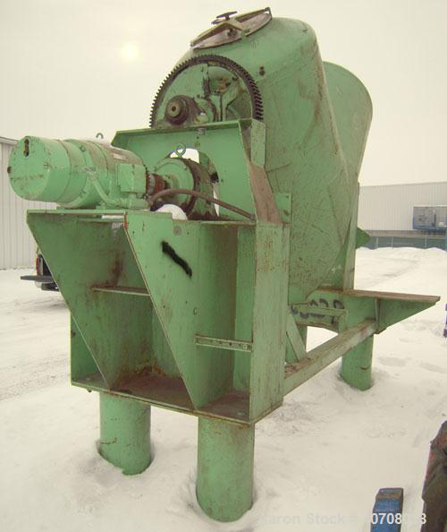 Used- Patterson Kelley Twin ShellDry Blender,30 Cubic Feet Capacity,Carbon Steel Clad With Aluminum. Maximum material den...