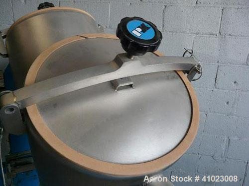 Unused-Patterson Kelley 3 Cubic Foot Crossflow Twin Shell V-Blender. This late model unit features the latest stand and shel...