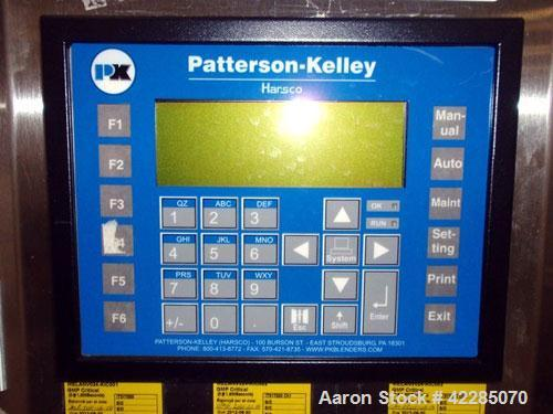 Used- Patterson Kelley Twin Shell Blender, 1 Cubic Foot. Stainless steel construction, standard access ports with covers, wi...