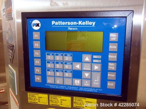 Used- Patterson Kelley Twin Shell Blender, 2 Cubic Foot. Stainless steel construction, rated 325 lbs/cu. ft. max material de...