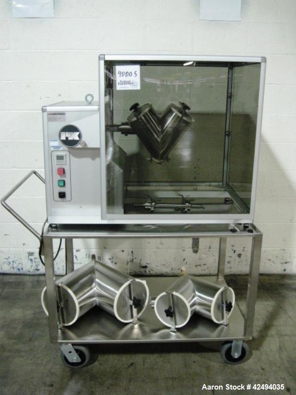 Used- Stainless Steel Patterson Kelley twin shell Blendmaster blender