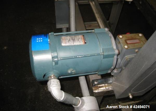Used-8 quart Patterson Kelley twin shell blender, stainless steel construction, on stand with .25 hp, 115 volt shell drive, ...
