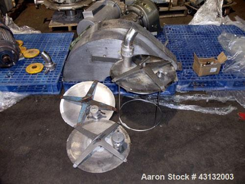 Used- Stainless Steel Patterson-Kelley Twin Shell Blender, 50 Cubic Feet Capacity