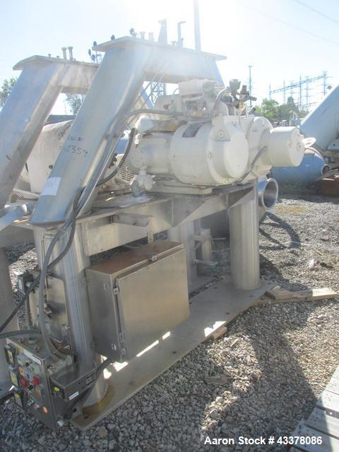 Used- Patterson-Kelley twin shell blender, 150 cu. Ft, stainless steel construction, rated 50 lbs/cu. ft. max material densi...