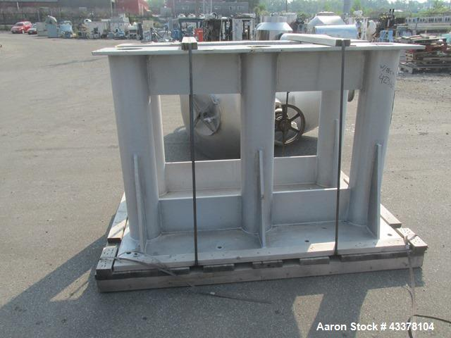 Used- Patterson-Kelley 75 Cubic Feet Twin Shell Blender. Stainless steel construction, rated for 50 pounds a cubic foot maxi...