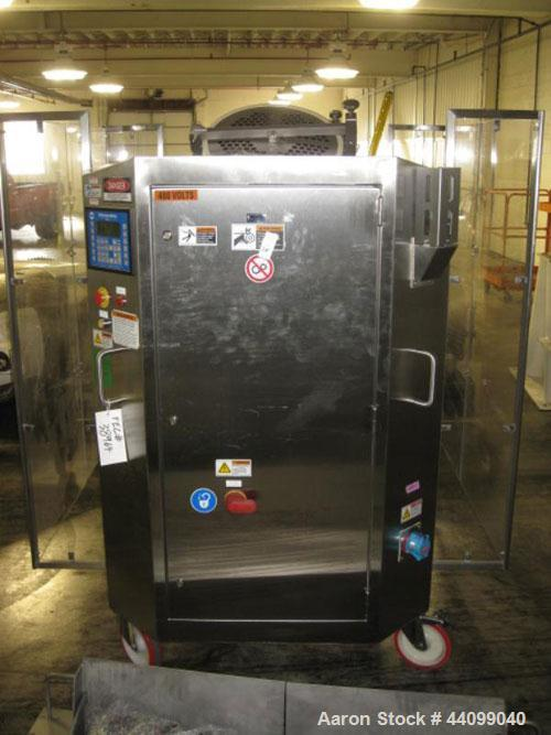 Used- Patterson-Kelley Twin Shell Dry Blender, 5 Cubic Feet, Stainless Steel. 70 Pounds a cubic foot maximum material densit...
