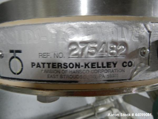 Used- Patterson Kelley twin shell blender, 2 cu ft stainless steel construction