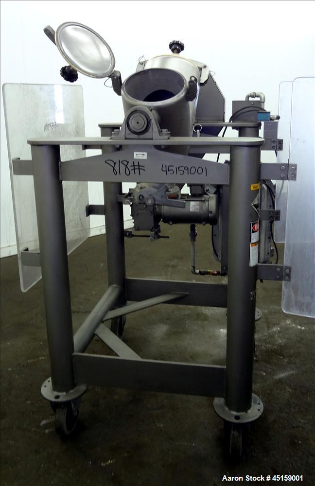 Used- Stainless Steel Patterson Kelley Twin Shell Cross Flow Blender, 1 Cubic Fe