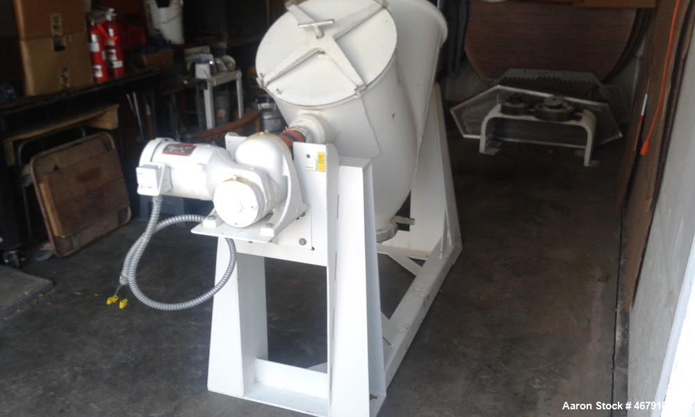 Used- Patterson Kelly Twin Dry Blender. 5 cubic foot capacity, 65 max. density.