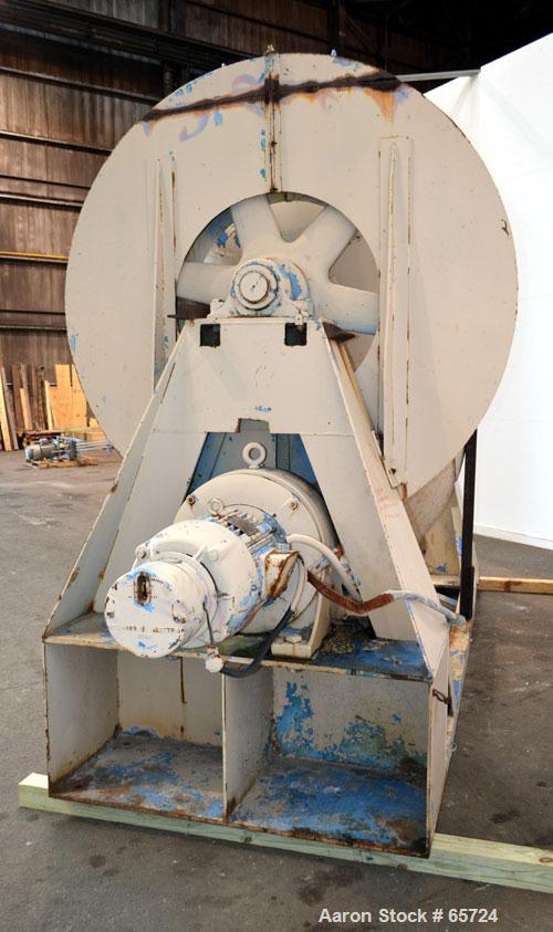 Used- Patterson-Kelley Twin Shell Dry Blender, 75 Cubic Feet Working Capacity, Carbon Steel. Maximum material density 185 po...