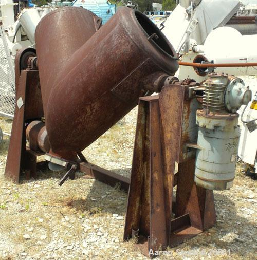 Used- Patterson Kelley Twin Shell Dry Blender, 10 Cubic Foot Capacity, Carbon Steel. Maximum material density 70 pounds per ...