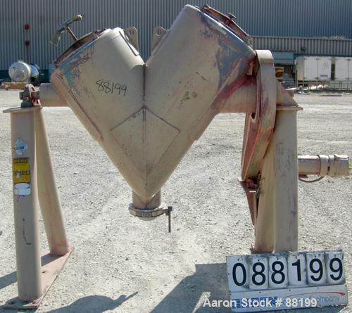 Used- Stainless Steel Patterson Kelly Twin Shell Cross Flow Blender, 10 Cubic Fe
