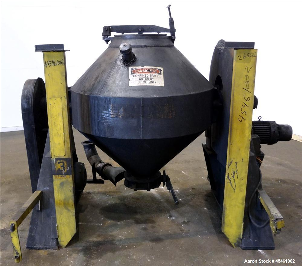 Used- Carbon Steel Patterson Industries Double Cone Blender